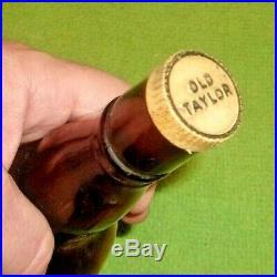 Vintage Old Taylor Bourbon Wooden Store Display & Bottle Merit Display Decor