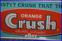 Vintage Orange Crush Soda Tin Sign Thirsty Crush That Thirst Store Display