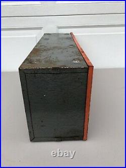 Vintage Original Delco Remy United Motors Line GM UMS Parts Display Cabinet