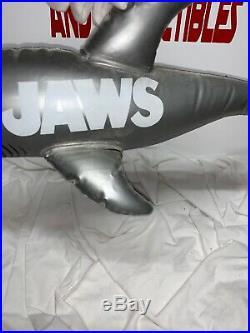 Vintage Original JAWS inflatable shark video store hanging display