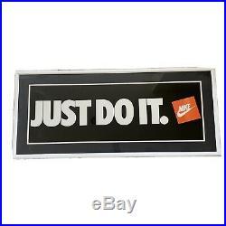Vintage Original NIKE Poster JUST DO IT 12 x 36 Store Display Jordan (No Frame)
