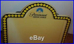 Vintage Paramount Video Store Lighted Marquee Sign Display VHS 1980's Flashes