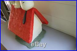 Vintage Peanuts WONDERFUL LARGE Snoopy on Doghouse STORE DISPLAY 24x14x14