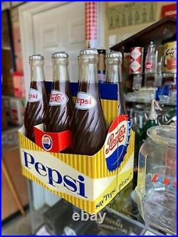 Vintage Pepsi Cola 6 Pack Carton BottCarrier Store Display 3D Sign Display HUGE