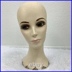 Vintage Plaster Mannequin Store Display Hat Wig Head Realistic Beautiful 1960s