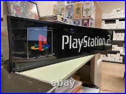 Vintage Playstation 2 Video Game Console Light up Sign Store Display WORKS