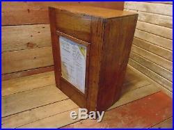 Vintage RARE Wood Store Display WALDEN WORCESTER RENCHES General Store 5-Drawer