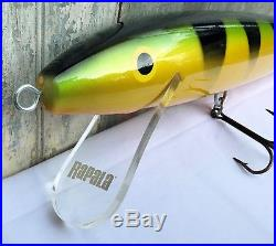 Vintage Rapala Original Giant Wounded Minnow Lure 29 Tackle Store Display Rare