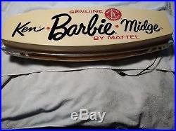 Vintage Rare MATTEL KEN BARBIE MIDGE Lighted Store Display Hanging Sign Light