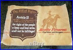 Vintage Rare Original Marlin Gun Rifle Firearms Advertising Store Display Felt