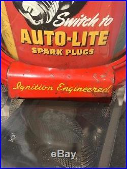 Vintage Rare auto-lite spark plug counter display 1934 to 1946