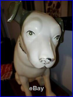Vintage Rca Victor Nipper Dog 37 Huge Record Store Display 3ft. Advertising