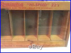 Vintage Remington Hi Speed 22 Shells Store Display Ammo Case Nice! Look