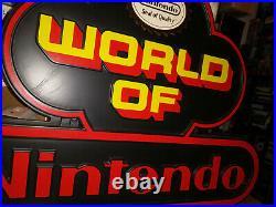 Vintage Retro Nintendo Store Display Sign Black & Red 1980s