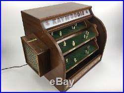 Vintage Revolving Kaywoodie Pipe Countertop Store Advertising Display Case