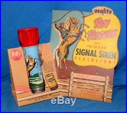 Vintage Roy Rogers Signal Siren Flashlight Store Display Excellent Condition