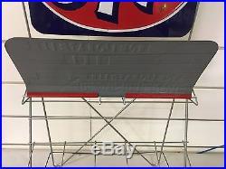 Vintage STP Gas & Oil Treatment Service Station Display Rack MINT! NOS Sign