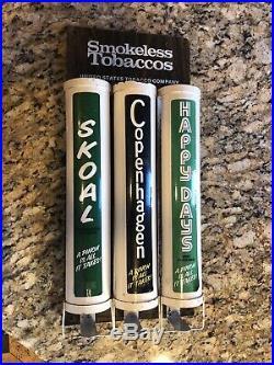 Vintage Skoal, Copenhagen, Happy Days Tobacco Metal Store Display Dispenser Sign