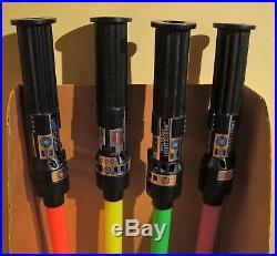 Vintage Star Wars RTOJ Lightsaber Store Display With 4 Sabers! Great Shape