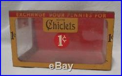 Vintage Store Display Adams Chiclets metal & glass container