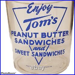 Vintage Store Display Enjoy Toms Peanut Butter Sandwiches Sweet Sandwiches