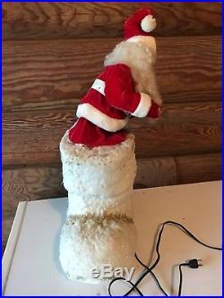 Vintage Store Display Mechanical Santa in Boot Harold Gale Santa Claus Christmas