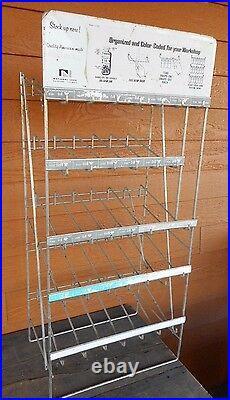 Vintage Store Display National Lock Organize Rack Shelf Metal Wire Flea Market