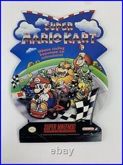 Vintage Super Nintendo Snes Super Mario Kart Promo Store Display Standee Sign