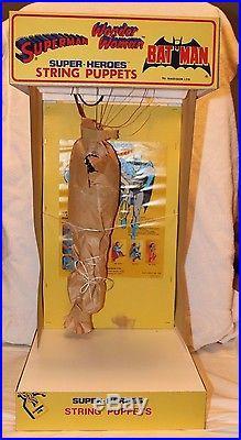 Vintage Superman String Puppet Store Display Superheroes Puppet Demonstrator