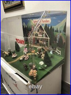 Vintage TOMY Sylvanian Families Originals Lot Store Display Raccoons Bunny Bears