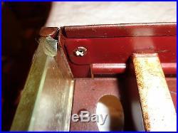 Vintage Tin Star Twist General Store Advertising Thread Display Cabinet Case