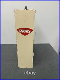 Vintage Toms Peanut Wood Display With Coin Slot White Shelf Free Shipping