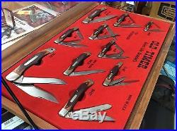 Vintage USA Schrade Old Timer Folding Knife Store Display 10 Knives Rare
