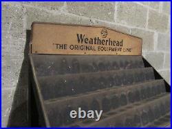 Vintage Weatherhead Steel Store Display Rack With Cabinet Salvaged