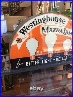 Vintage Westinghouse Mazda Lamps Counter Display Hardware Store Advertising