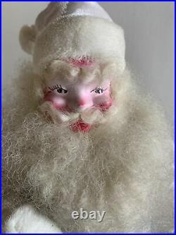Vintage White Velvet Harold Gale Santa Claus Store Display Christmas