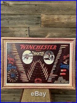 Vintage Winchester Advertising Sign Bullet Board