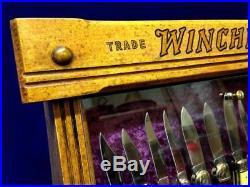 Vintage Winchester Pocket Knife Display Case 1900's General Store Merchandiser