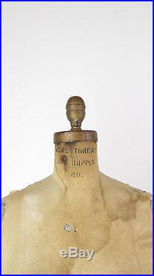 Vintage Wolf Acme Dress Form Mannequin with Cage Model 1963 SZ 10 Store Display