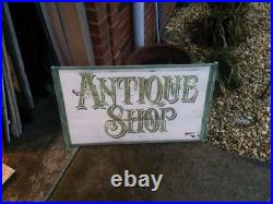 Vintage Wooden Antique Shop Sign GAS OIL SODA POP COUNTRY STORE 34 x 20