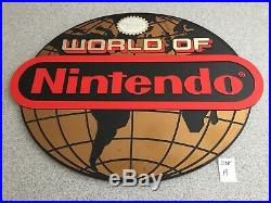 Vintage World of Nintendo Store Display Sign NES 1985 Authentic Globe Version