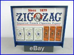 Vintage ZIG-ZAG Cigarette Rolling Papers Vending Machine Dispenser Store Display