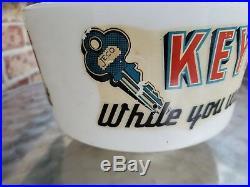 Vintage advertising globe jeco keys Hardware Store Display