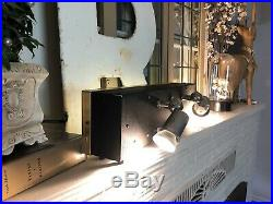 Vintage, authentic 1950s Chanel light up store display with rare spot lights