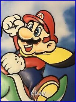 Vintage large store display sign original Nintendo Super Mario Bros Yoshi