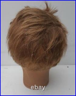 Vintage mannequin head, P. Imans, Paris, plaster, implanted hair, moustache