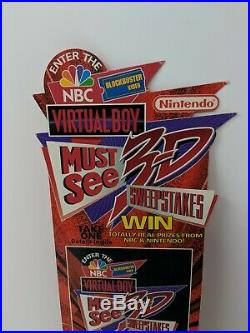 Virtual Boy Blockbuster NBC Store Display Sign Promo Promotional Nintendo VTG