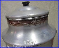 Vtg 1950s JOHNSTON HOT CHOCOLATE Store Display Dispenser diner country drug adv