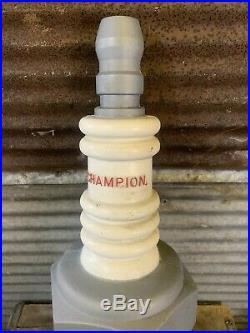 Vtg 50s 60s Plastic CHAMPION Spark Plug Store Display Promo Advertising 23 Sign