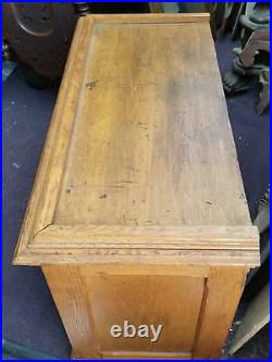 Vtg Antique Oak Country Store Display Spool Cabinet Sewing Thread